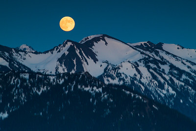 Artemis's Moon over Mount Olympus