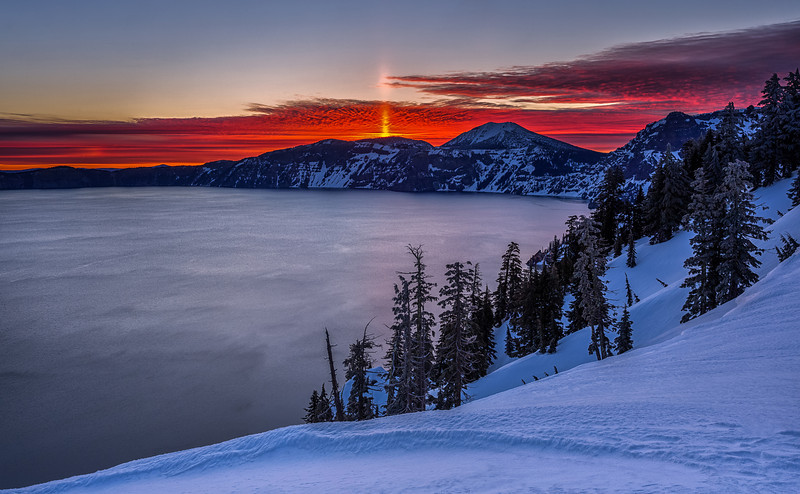 Crater Lake Sun Spire