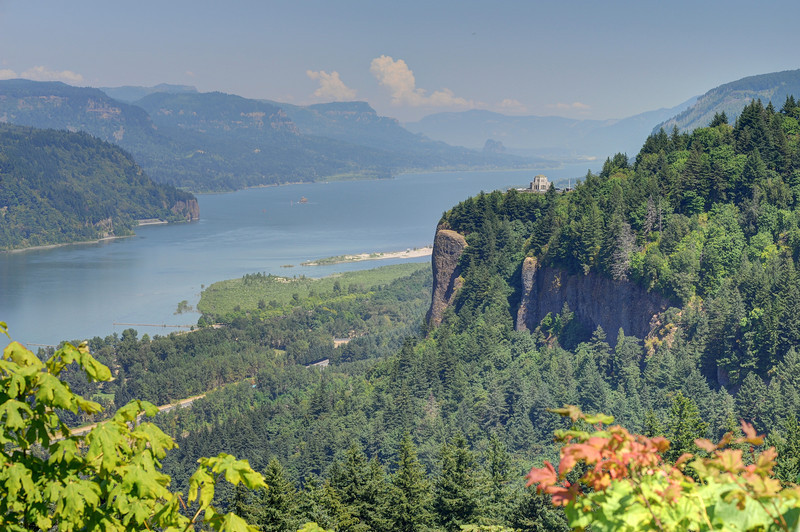 Vista House and Columbia River, Oregon