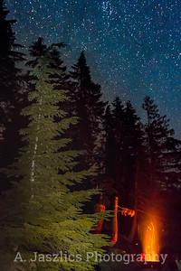 Campfire & Stars