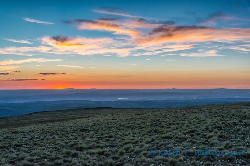 Sunset, east rim, Steens Mountain