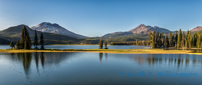 South Sister and Broken Top, Sparks Lake