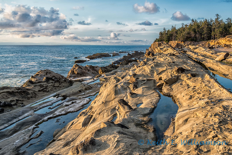 Sandstone pools by the ocean