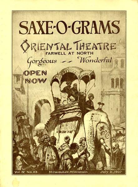 Original flyer for opening night.