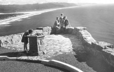 When workers finished the highway in 1941, images by photographers working for the State Highway Department invited tourists to explore the coast.