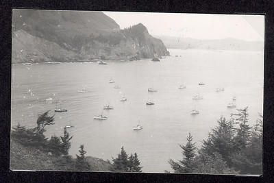 Before the days of powerful engines, radios and global position systems, fishing boats anchored near Short Sand Beach using Cape Falcon as protection from northwest winds.