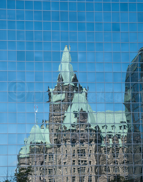 Reflection of a Government Building