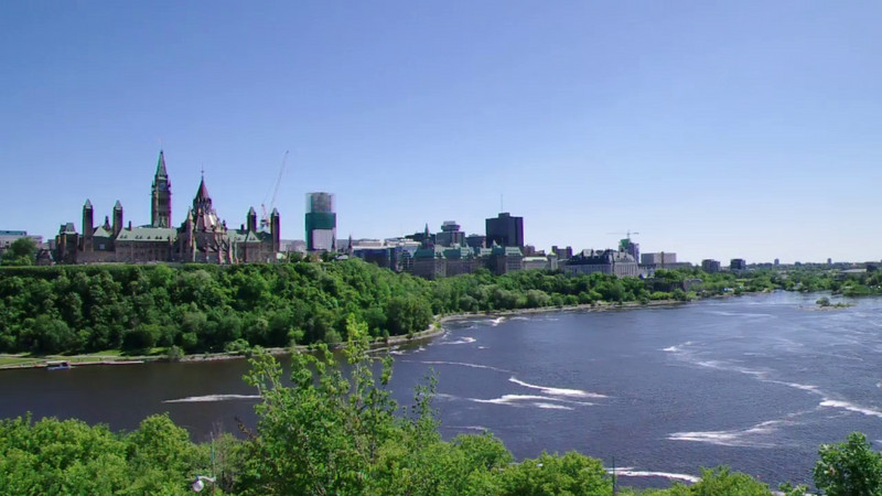 The Ottowa River and Parliament Hill