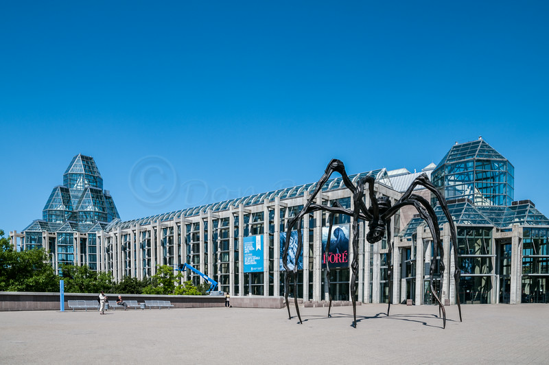 The National Gallery with Louis Bougois' Maman Statue of a spider
