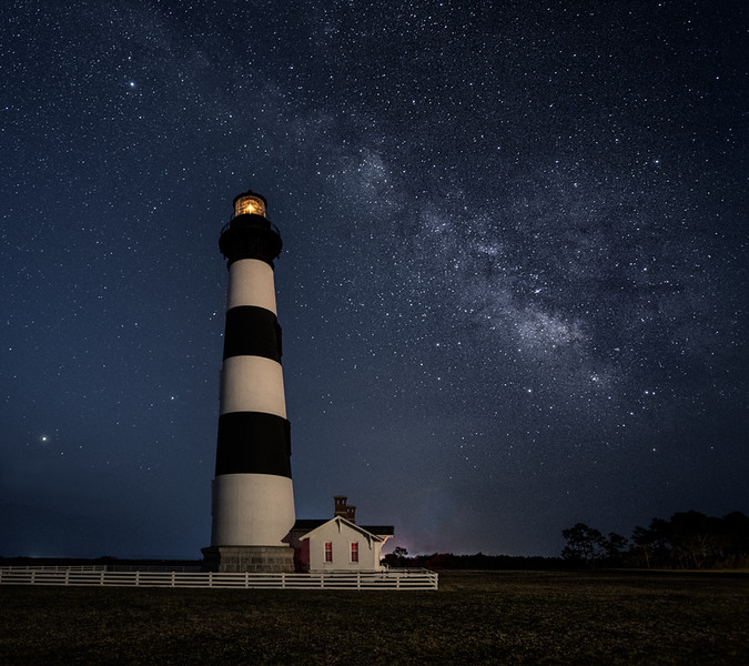 Bodie Island Lighthouse and Milky Way.