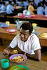 One of my upper form Ghana Secondary School students enjoying lunch.