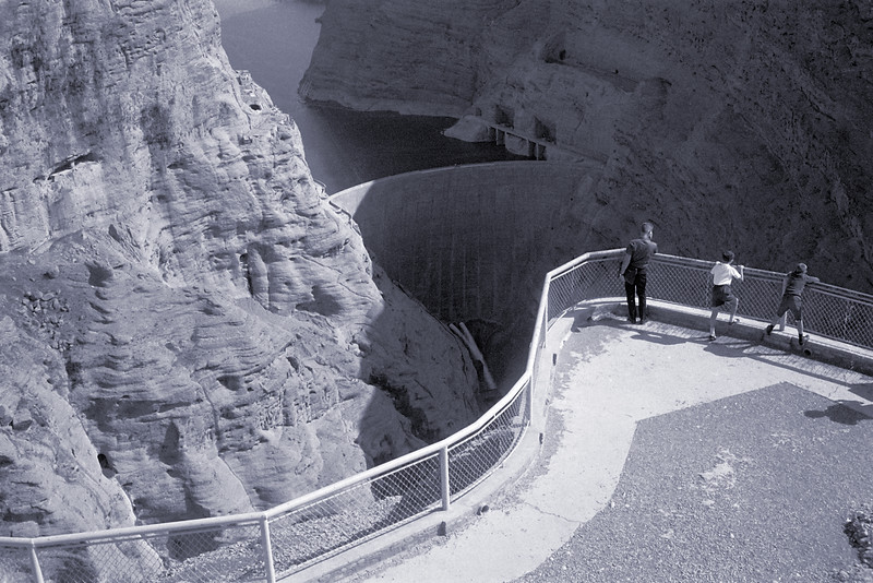 Dezful dam in Iran.  Picture by Frank Baker Kodak Signet 35mm Agfa black<br /> and white film