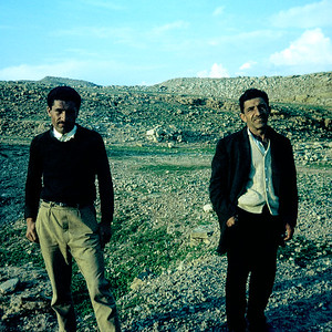 In 1969 I used to wander the hills around our house in MIS Iran with my fixed focus Instamatic Camera (click here). The Instamatic was easily one of the worst cameras I have ever used but it still snagged some of my favorite old shots like this somber snapshot of two walking men. I wonder what happened to these fellows. If they're still alive they're in their eighties or older.