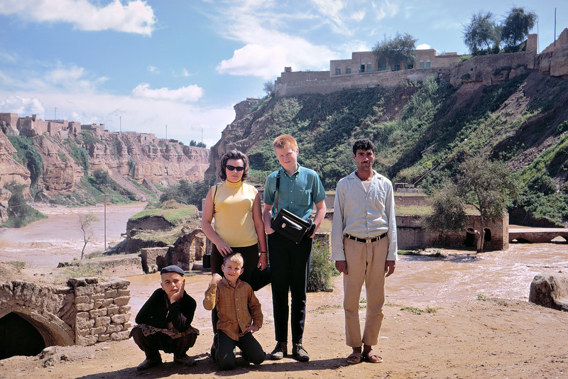 Visiting the Shoustar waterworks in southern Iran in 1967. I am with my mother, my younger brother and some locals that wanted to get in the picture.