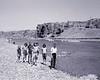 Children by an Iranian river.