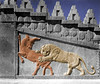 The lion attacking bull relief at Persepolis.