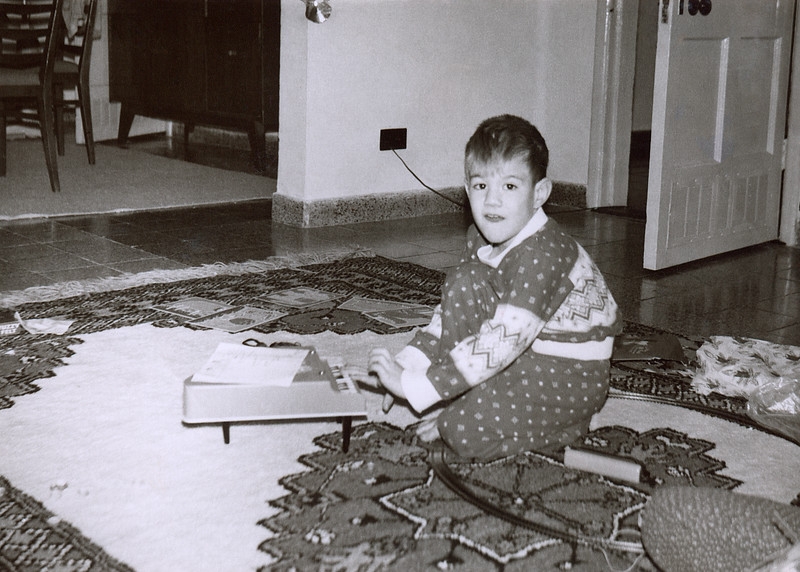 My brother Steve banging on a toy piano on Christmas morning 1966. My dad snapped this shot in the living room of our first house in Agha Jari Iran. Whenever I think of that first Christmas in Iran I am still impressed that my mother managed to move from Utah to Iran in a matter of weeks yet didn't forget to import Christmas presents halfway around the world.