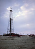 Drilling rig southern Iran 1967. One well in those days could produce as much as 40,000 barrels of oil per day.