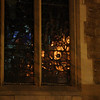 Reflections in a church window