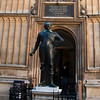 Statue in Bodleian Library Courtyard Oxford