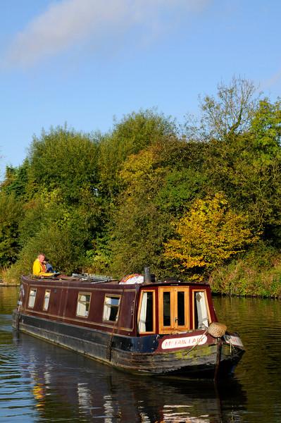 """My Fair Lady"" River Barge on Thames near Sandford Lock, Oxford"