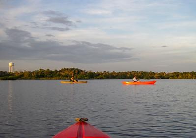 sunset paddle in Ozello