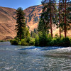 Trout fishing near Leavenworth, Washington