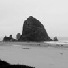 Haystack Rock in early morning