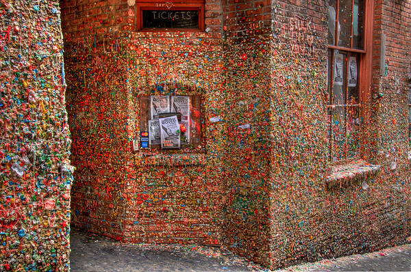 Gum Wall, near Pike Market, Seattle