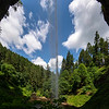 Fisheye under Falls