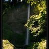 "Latourell Falls, Columbia River Gorge, Oregon.<br><br><span class=""subcaption""> Used ND-Grad filter, tilted at an angle, to stop down the overpowering sky brightness.</span>"