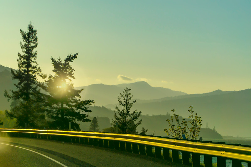 The road home in the Columbia Gorge
