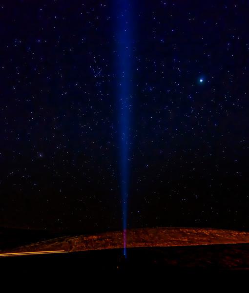 Flashlight toward the stars