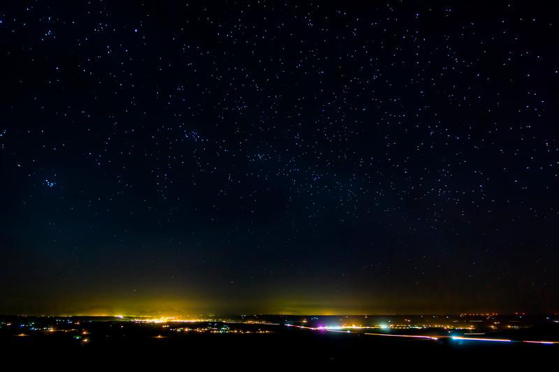 Pendleton, Oregon at night