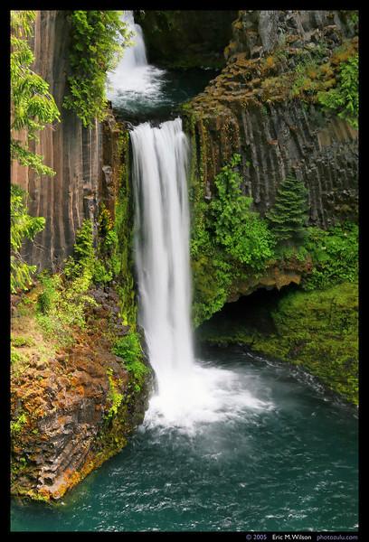 Toketee Falls, detail.