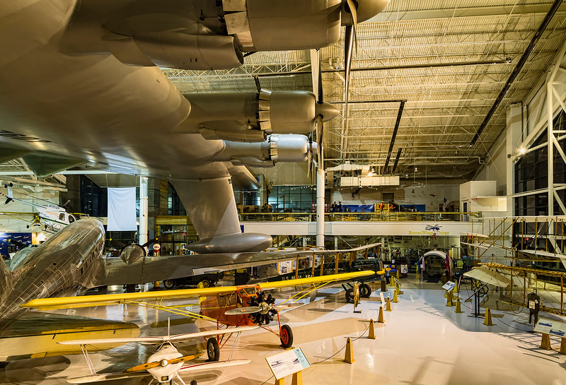 A variety of other aircraft fit comfortable under the Spruce Goose wing