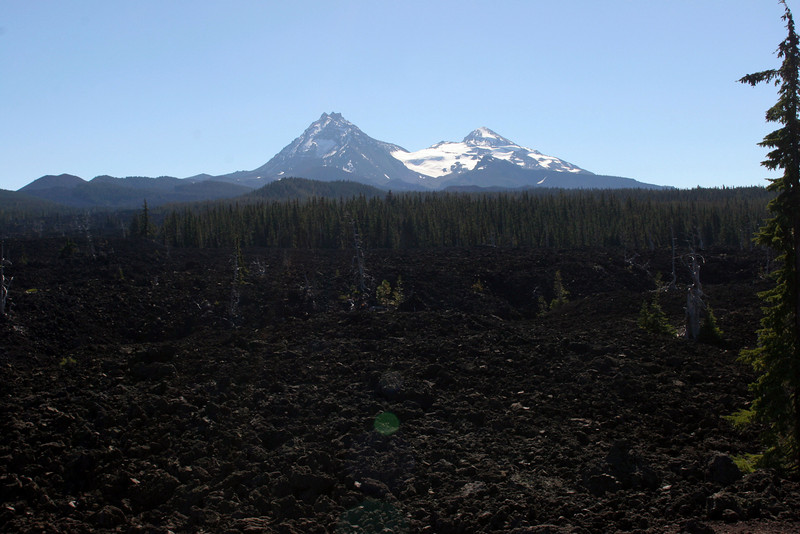 View of Three Sisters from McKenzie pass.