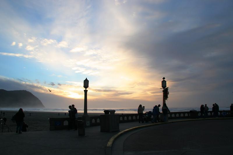Sunset at Seaside, Oregon.
