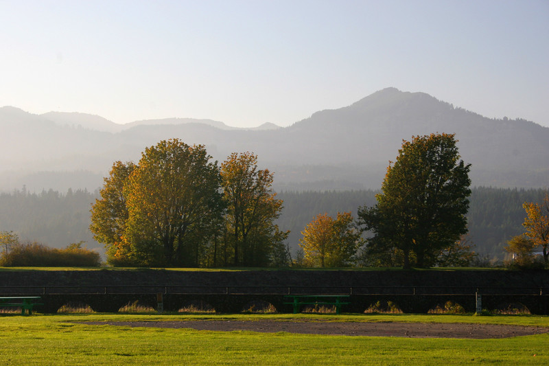 Park in Cascade Locks, near Bridge of the Gods.
