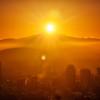 Sun Over Hood Across Portland
