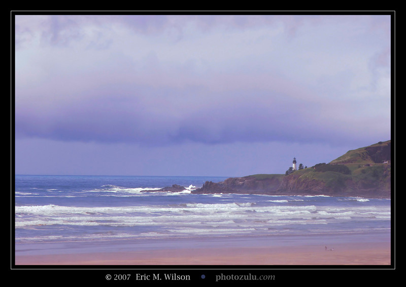 Yaquina Head lighthouse. View from our hotel parking lot.