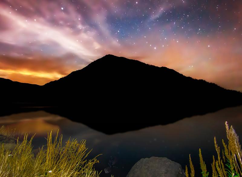 Stars over Lake Crescent