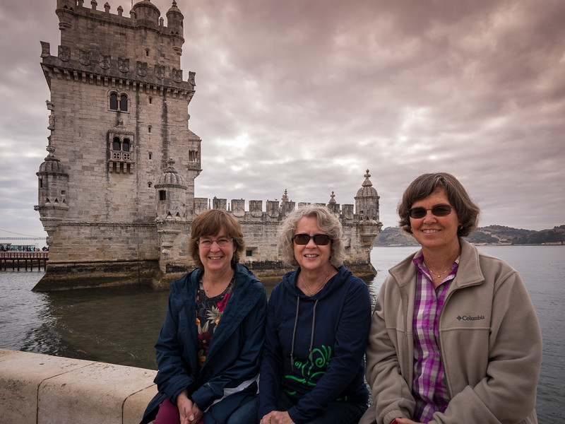 Melinda, Hannah, Lisa at Belem Tower
