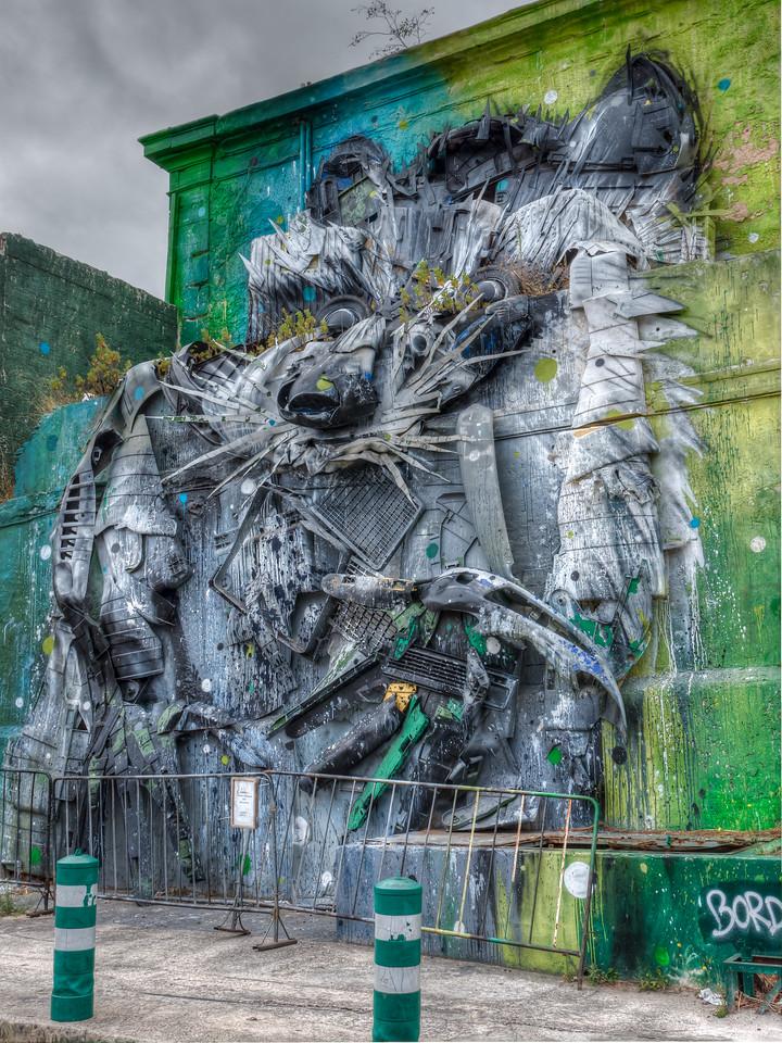 Lisbon Grafitti made from junk