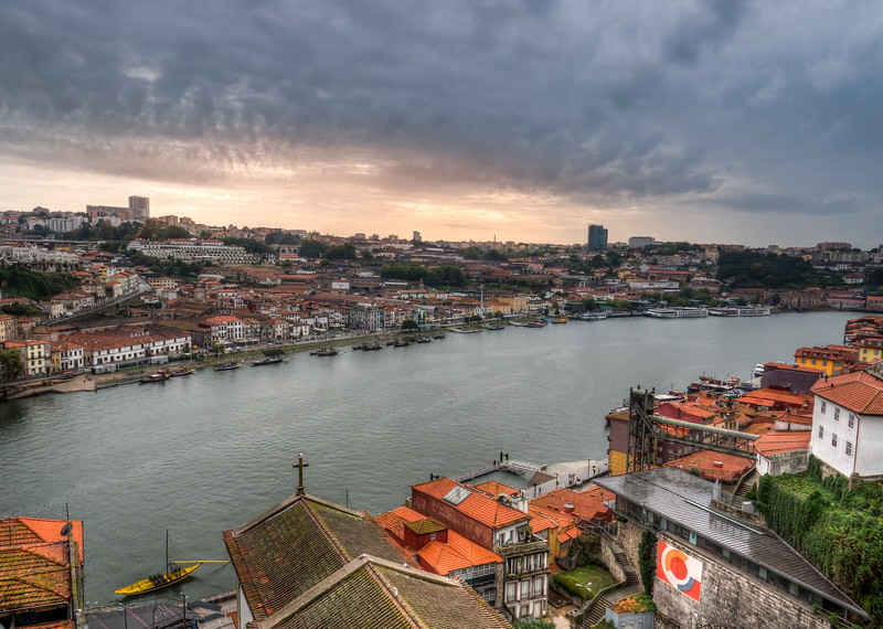 Overlooking Porto from the bridge