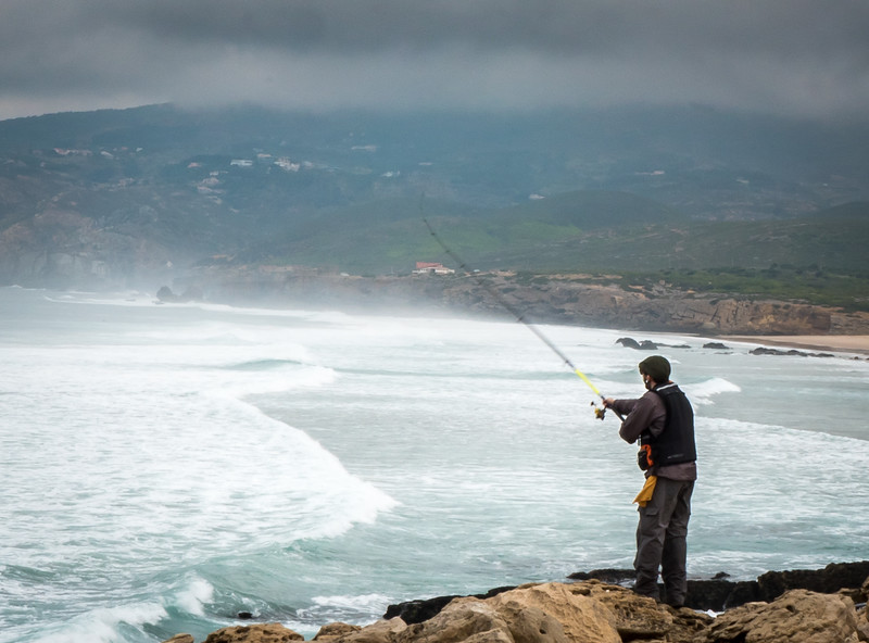 Fisherman, Guincho Beach