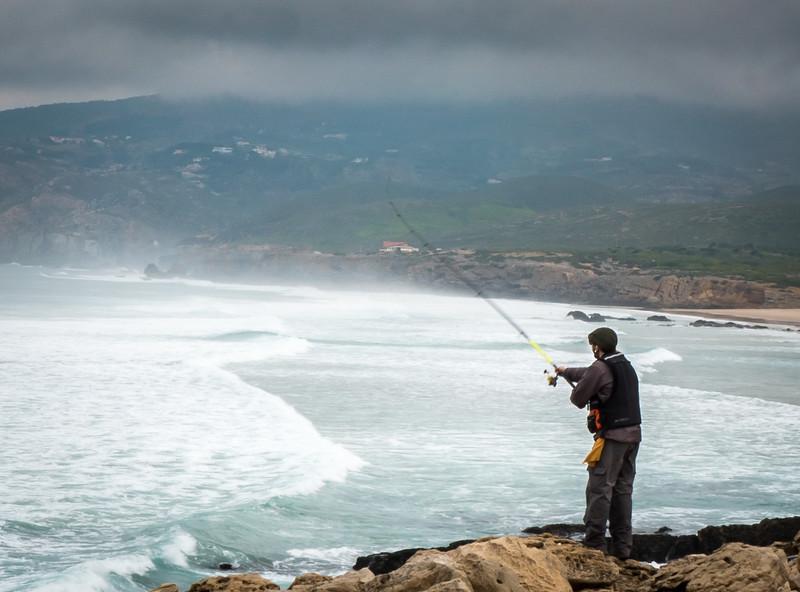 Fisherman, Guincho Beach