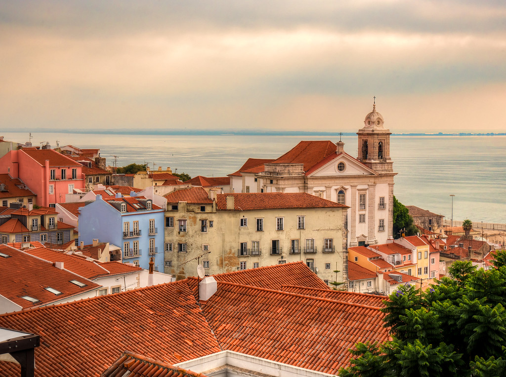 Lisbon, overlooking the Tagus River