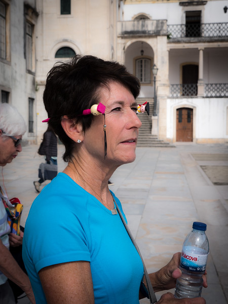 Becky at University of Coimbra, Portugal
