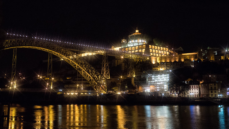 Dockside in Porto at night
